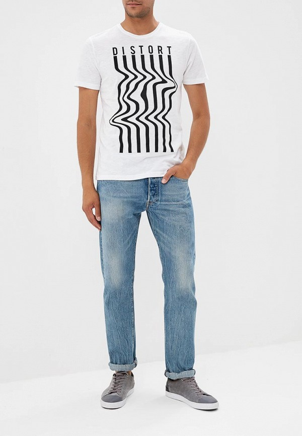 Фото 3 - мужскую футболку OVS белого цвета