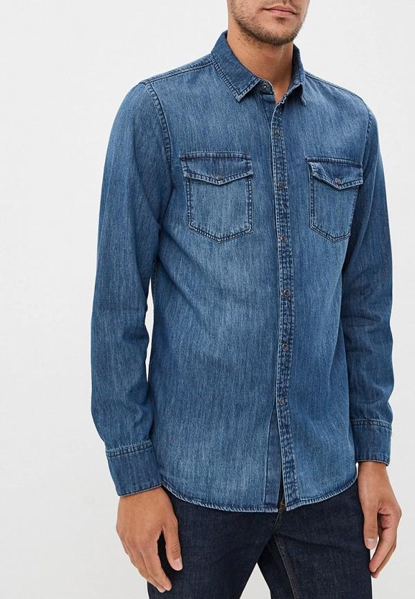 мужская джинсовые рубашка ovs, синяя