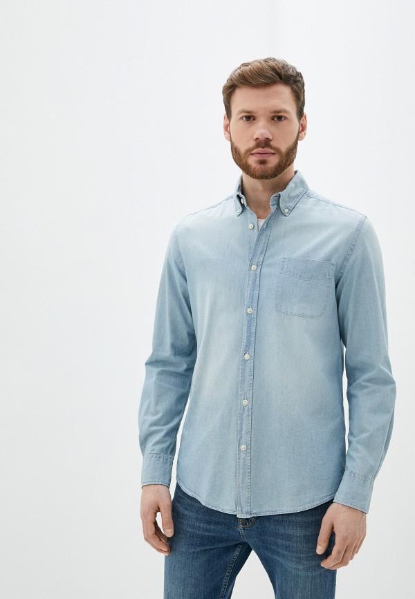 мужская джинсовые рубашка ovs, голубая