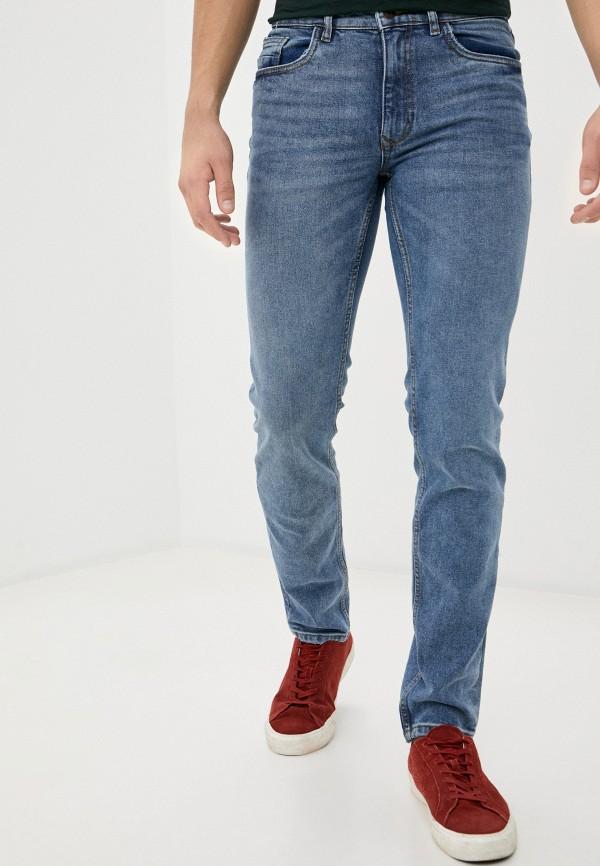 мужские зауженные джинсы ovs, голубые