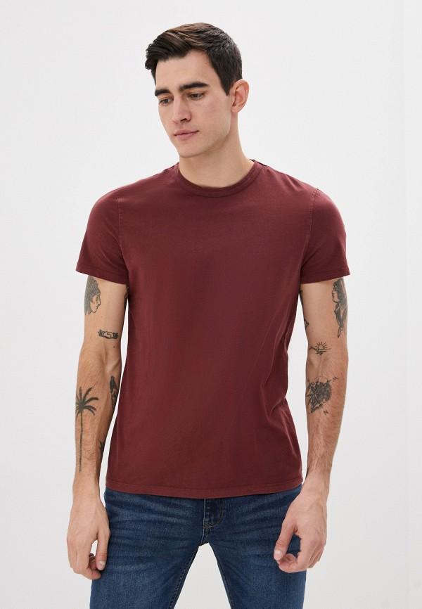 мужская футболка с коротким рукавом ovs, бордовая