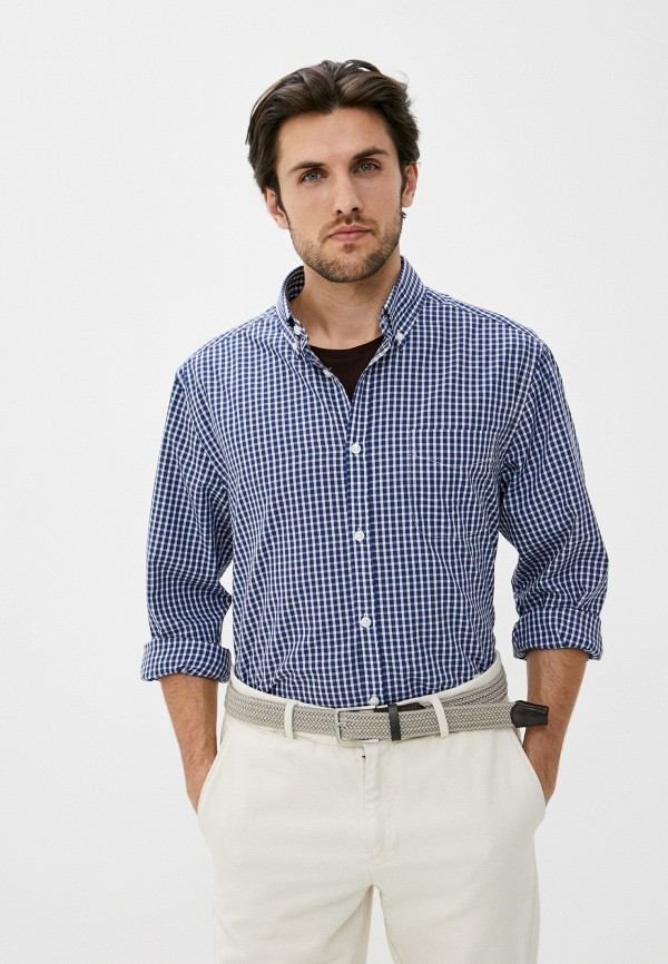 мужская рубашка с длинным рукавом ovs, синяя