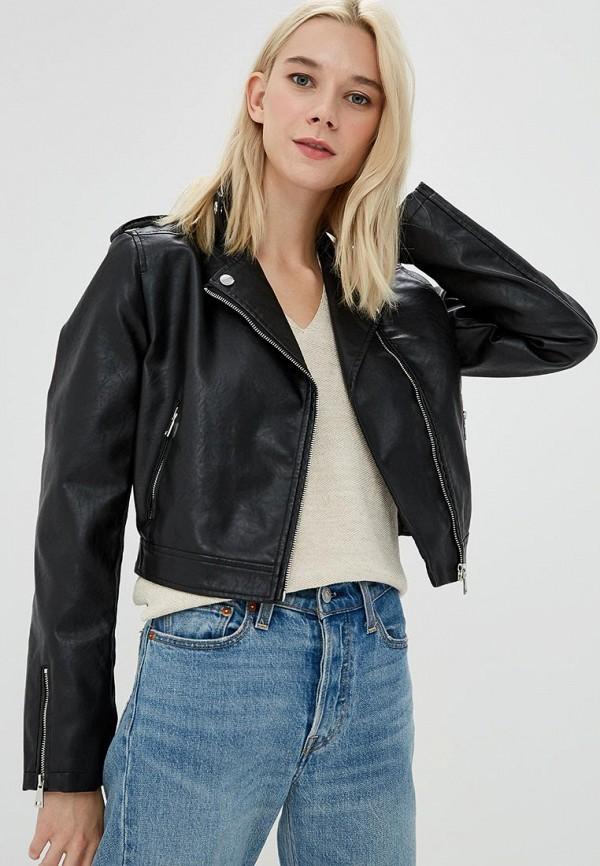 Купить Куртка кожаная OVS, ov001ewayuf8, черный, Весна-лето 2018
