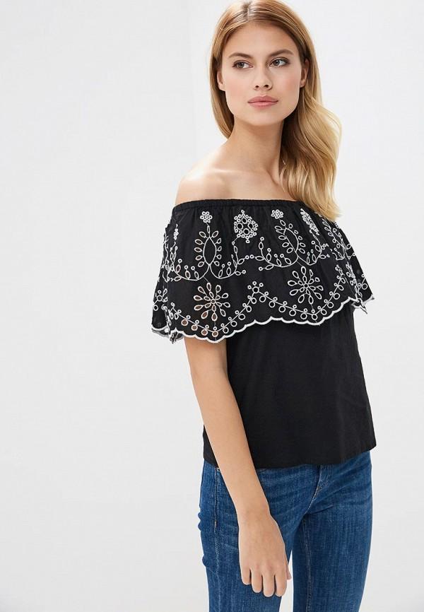 Фото 2 - женскую блузку OVS черного цвета