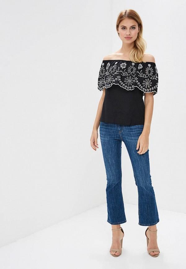 Фото 6 - женскую блузку OVS черного цвета