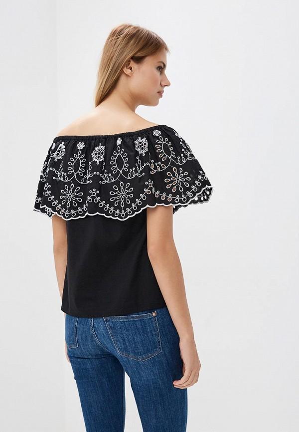 Фото 4 - женскую блузку OVS черного цвета
