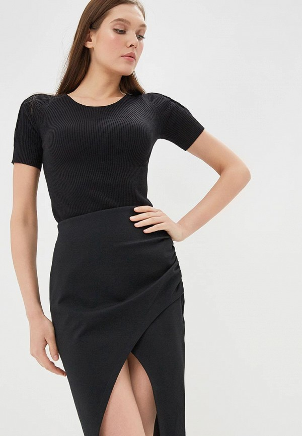 женская футболка ovs, черная