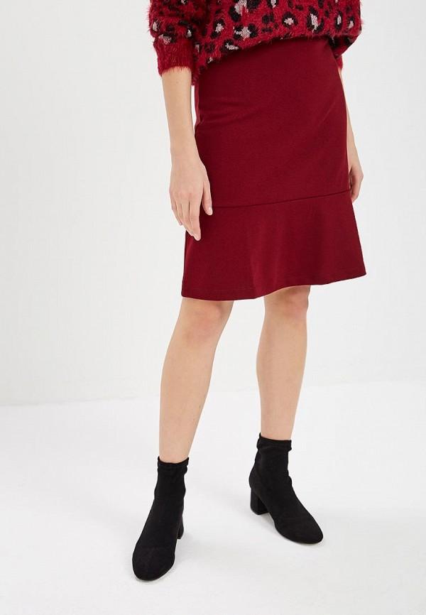 женская юбка ovs, бордовая