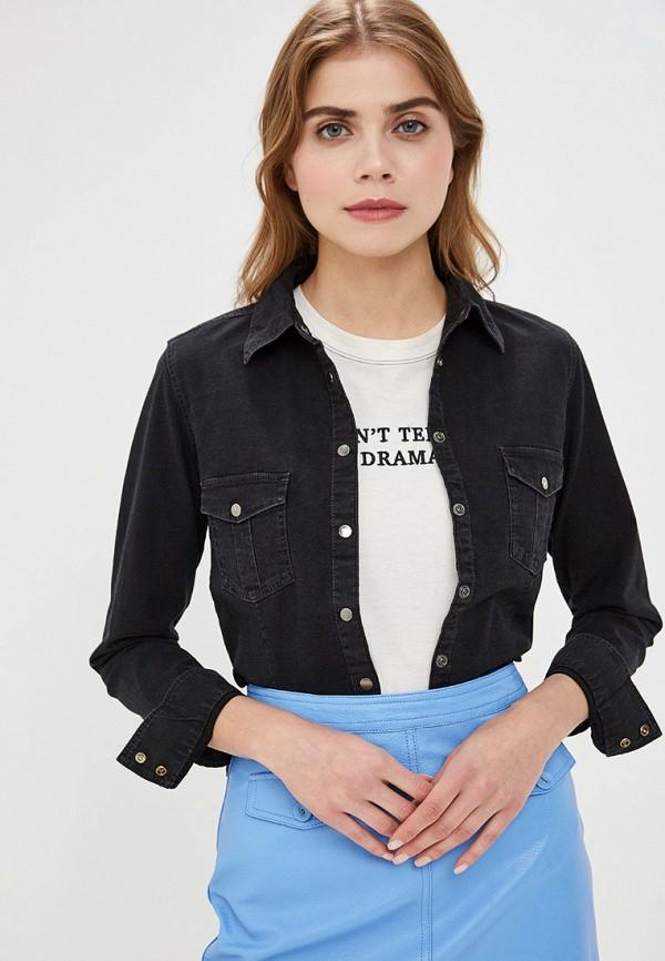 женская джинсовые рубашка ovs, черная