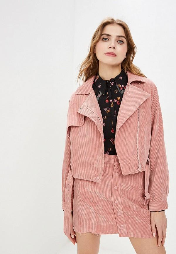 женская куртка ovs, розовая