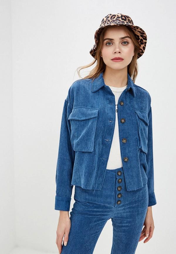 женская рубашка с длинным рукавом ovs, синяя