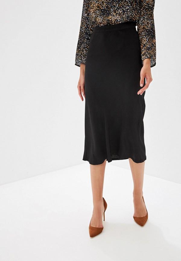 женская прямые юбка ovs, черная