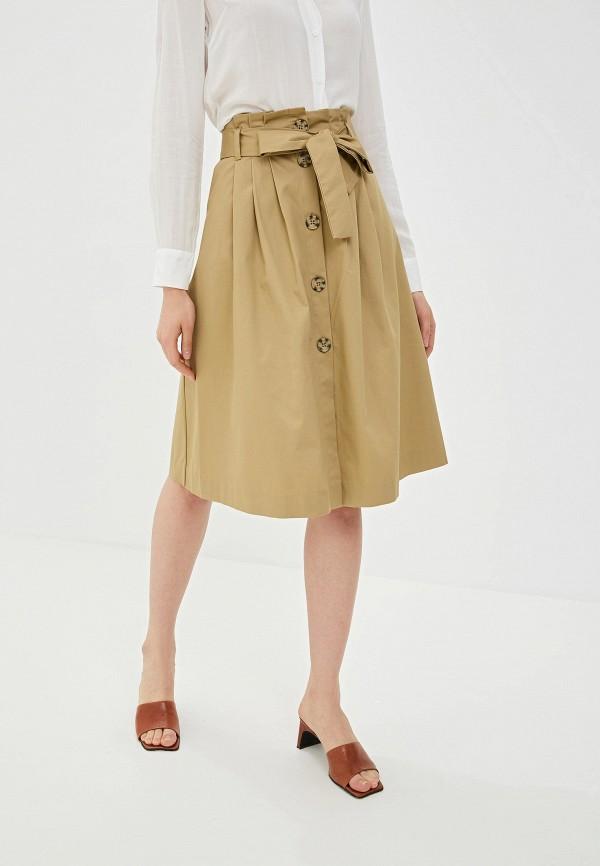 женская юбка ovs, бежевая