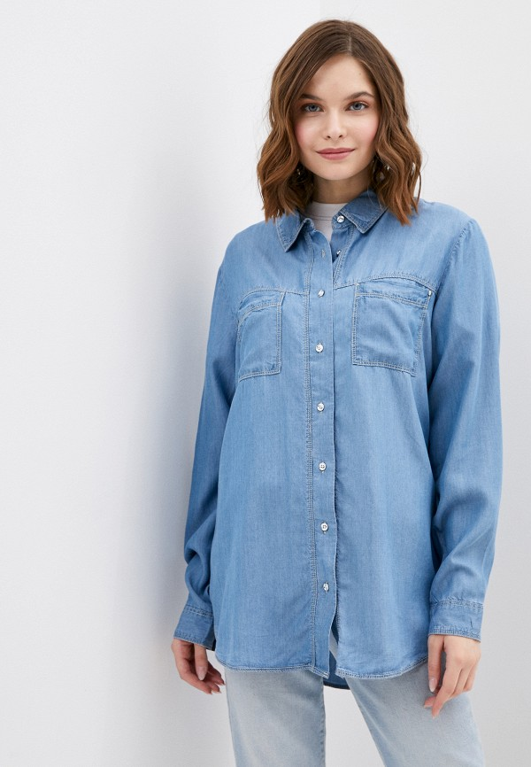 женская джинсовые рубашка ovs, синяя