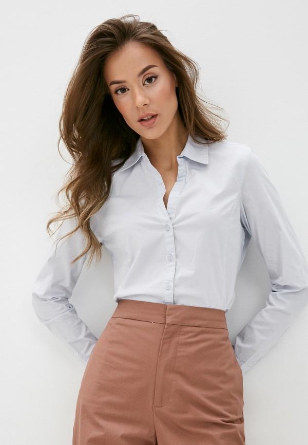 женская рубашка с длинным рукавом ovs, голубая