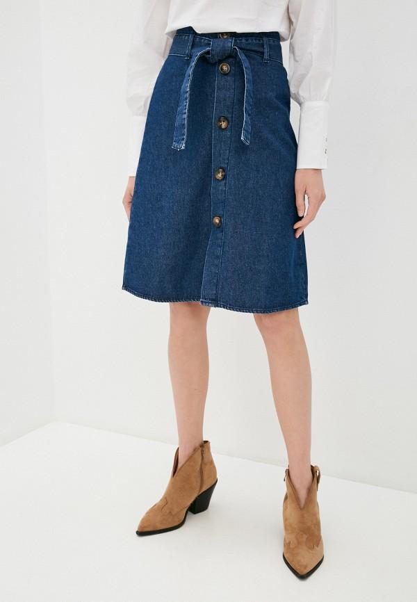 женская джинсовые юбка ovs, синяя