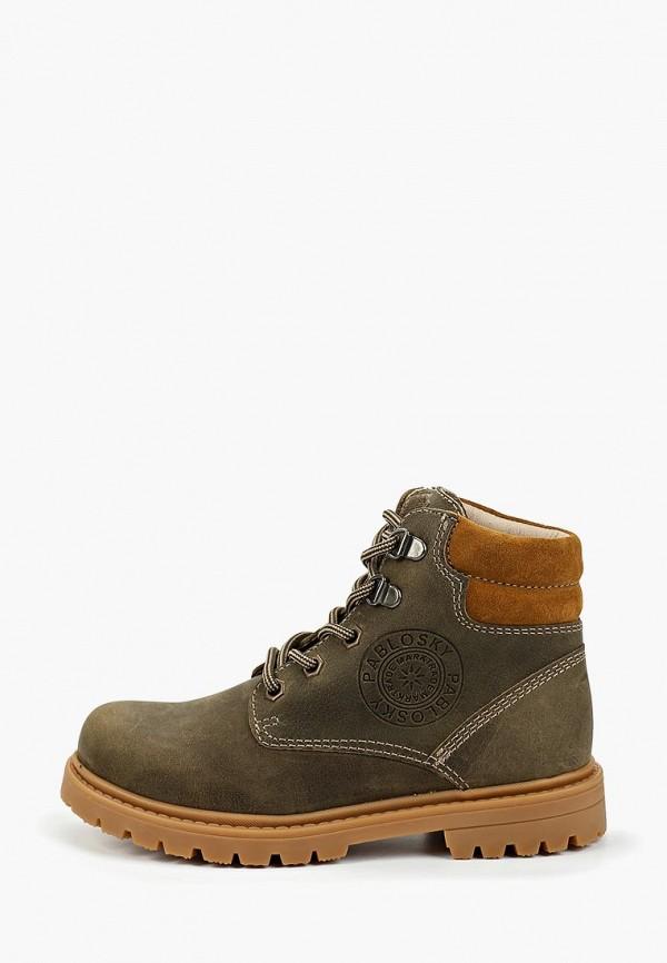 ботинки pablosky для мальчика, зеленые