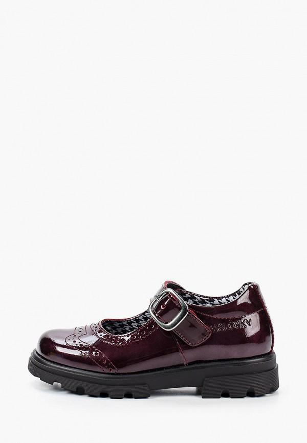 туфли pablosky для девочки, бордовые