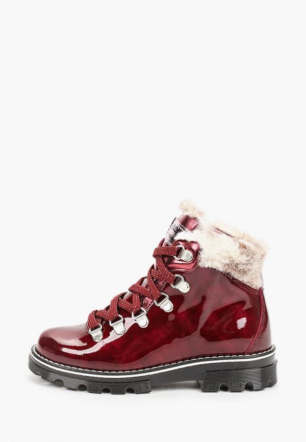 ботинки pablosky для девочки, бордовые