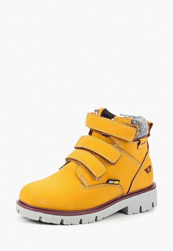 ботинки patrol для мальчика, желтые