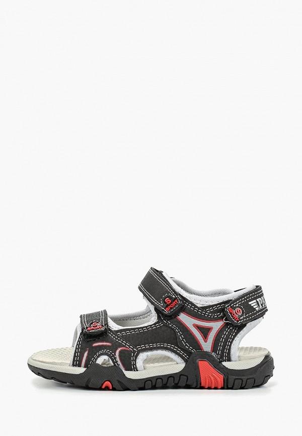 сандалии patrol для мальчика, черные