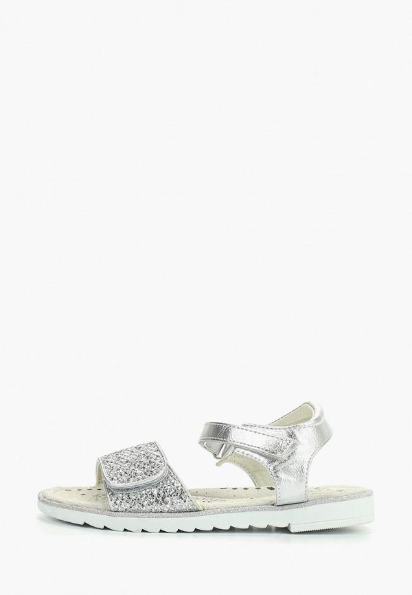сандалии patrol для девочки, серебряные