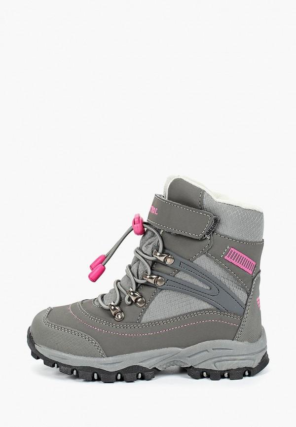 ботинки patrol для девочки, серые