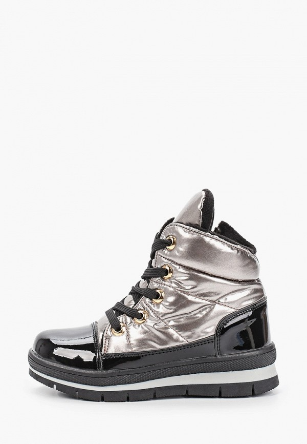 ботинки patrol для девочки, серебряные