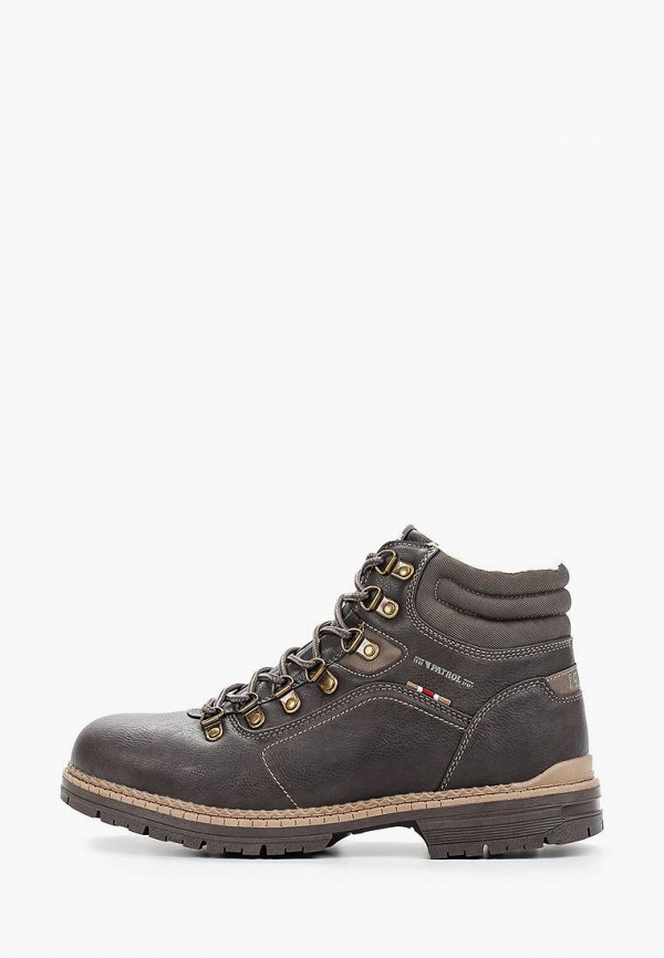 мужские высокие ботинки patrol, коричневые