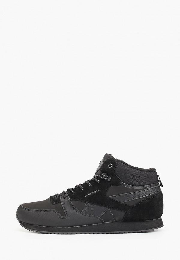мужские высокие кроссовки patrol, черные
