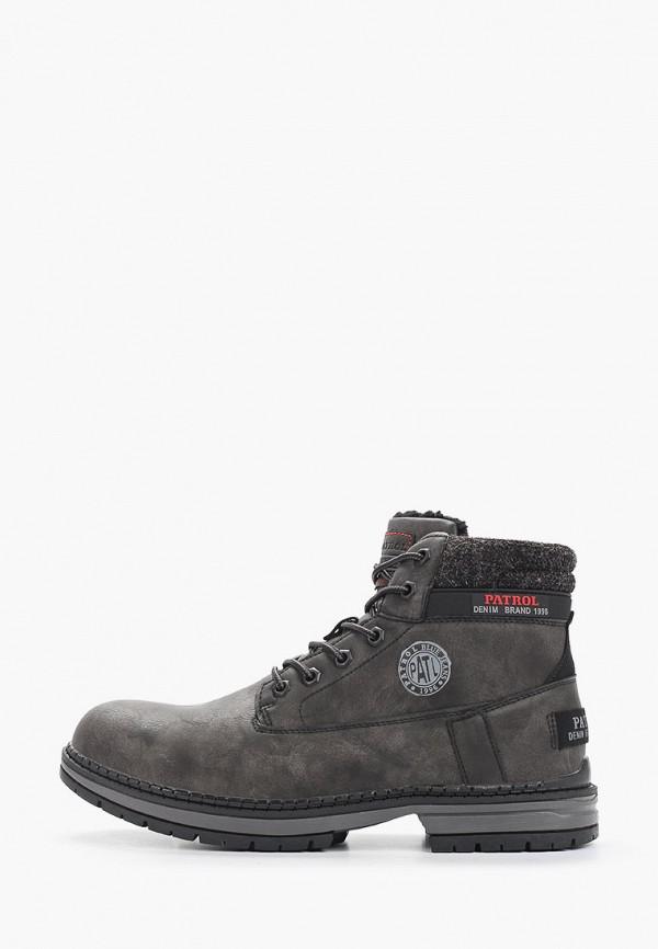 мужские ботинки patrol, серые