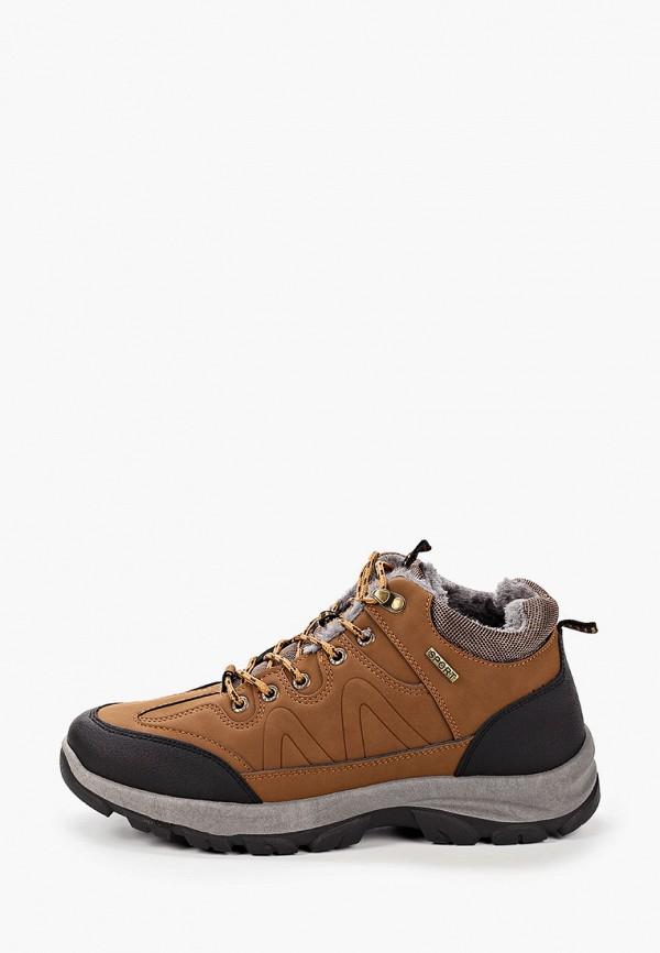 мужские низкие ботинки patrol, коричневые
