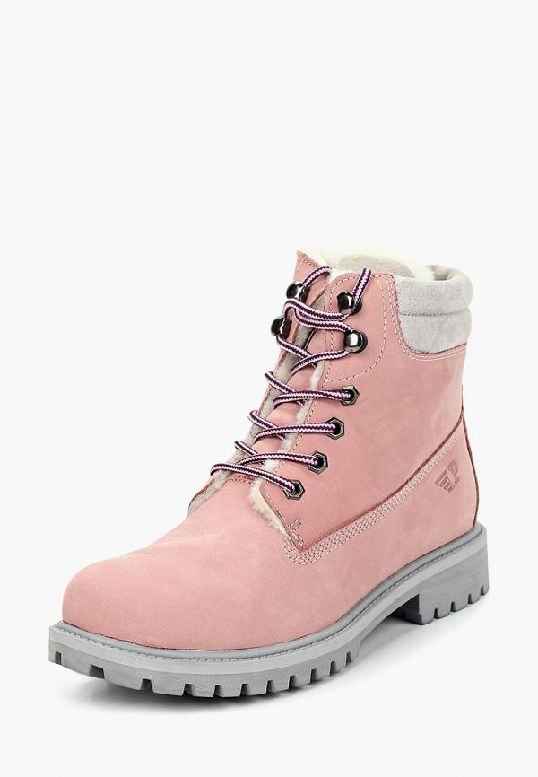 женские ботинки patrol, розовые