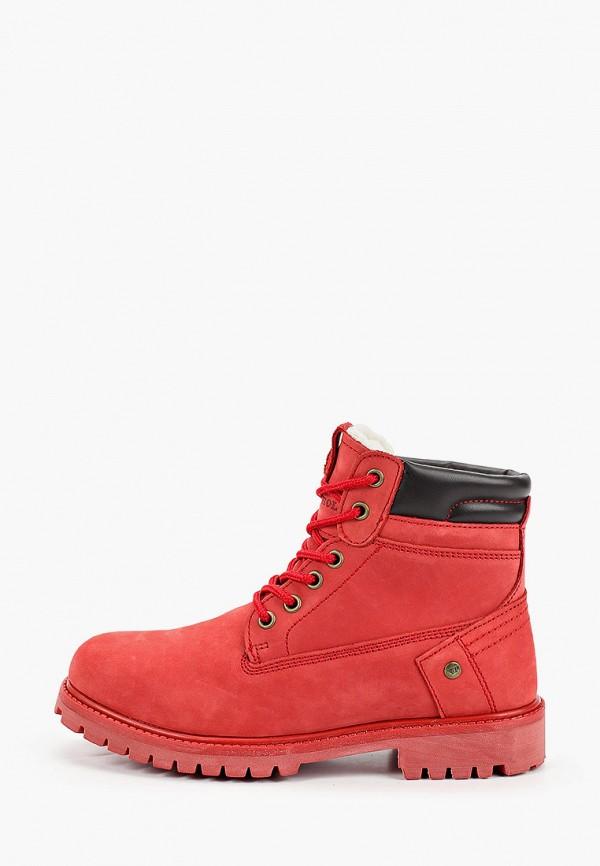женские ботинки patrol, красные