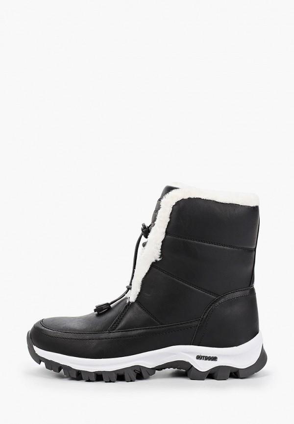 женские высокие ботинки patrol, черные