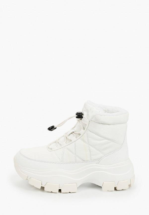 женские высокие ботинки patrol, белые
