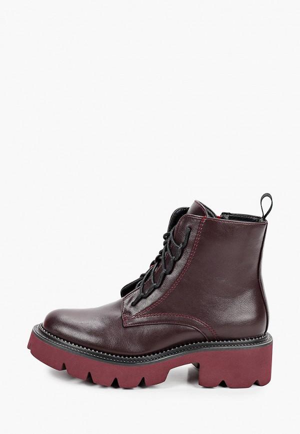 женские ботинки patrol, бордовые