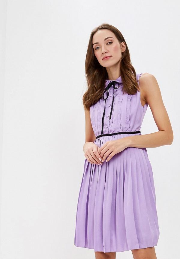 женское повседневные платье paccio, фиолетовое