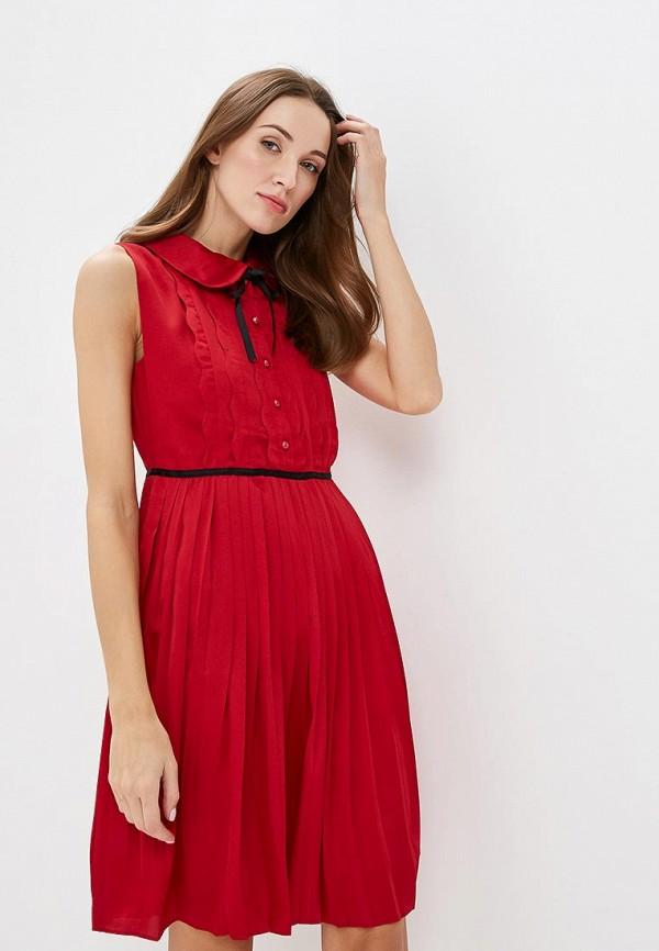 женское повседневные платье paccio, красное
