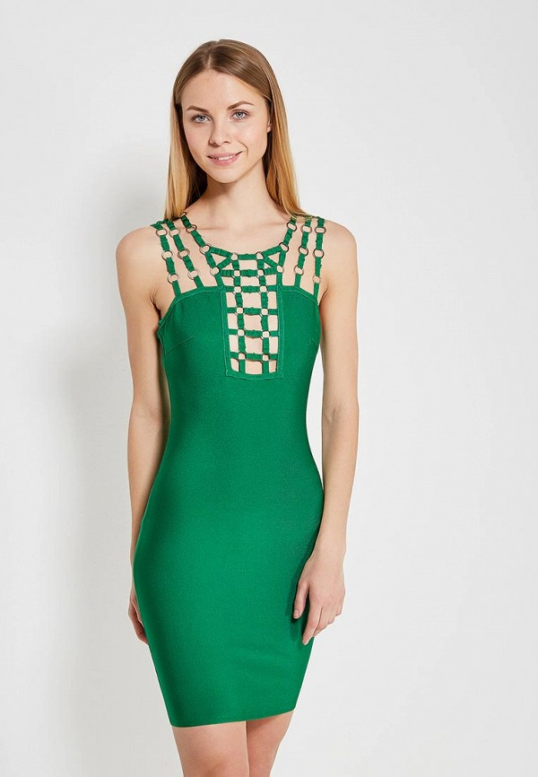 женское вечерние платье paccio, зеленое