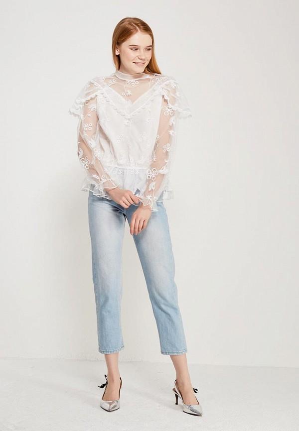 Фото 2 - женскую блузку Paccio белого цвета
