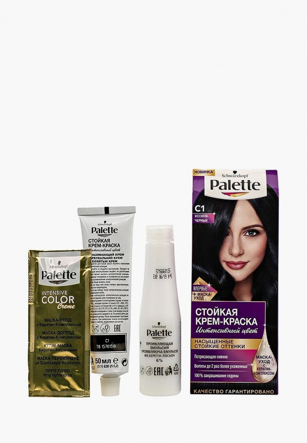 Купить Краска для волос Palette, Стойкая С1 Иссиня-черный, 100 мл, PA061LWJOK80, Весна-лето 2018