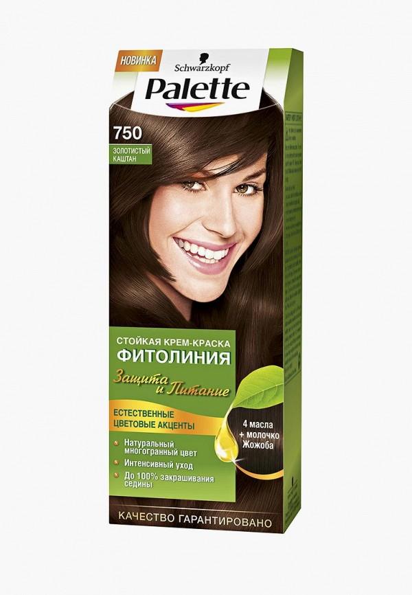 Купить Краска для волос Palette, ФИТОЛИНИЯ 750 Золотистый каштан, 110 мл, pa061lwjol17, Весна-лето 2019