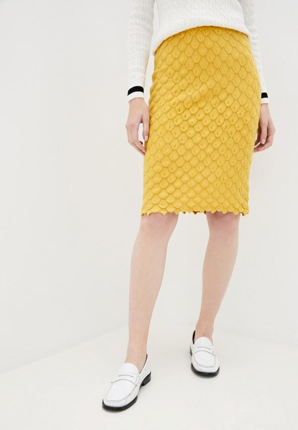 женская прямые юбка passioni, желтая