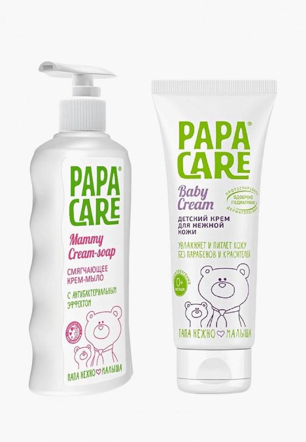 Купить Набор для ухода за телом Papa Care, смягчающее крем-мыло 250 мл + детский крем 100 мл, pa073lkaypm7, прозрачный, Осень-зима 2018/2019