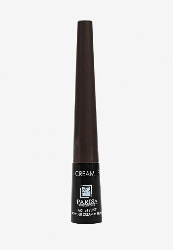 тени для бровей parisa, коричневый