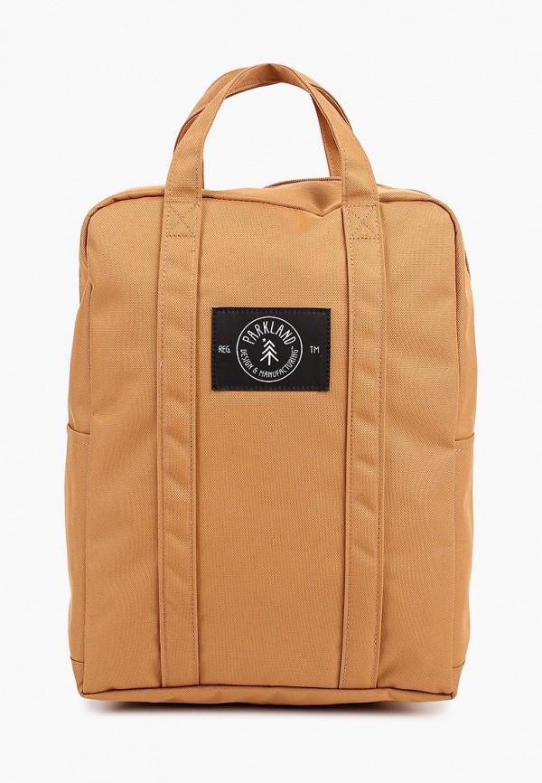 женский рюкзак parkland, коричневый