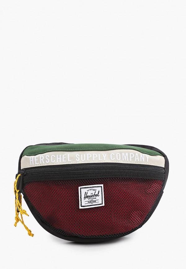 женская сумка herschel supply co, бордовая