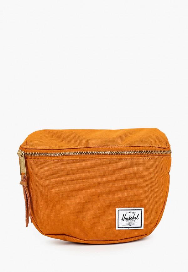 женская сумка herschel supply co, оранжевая