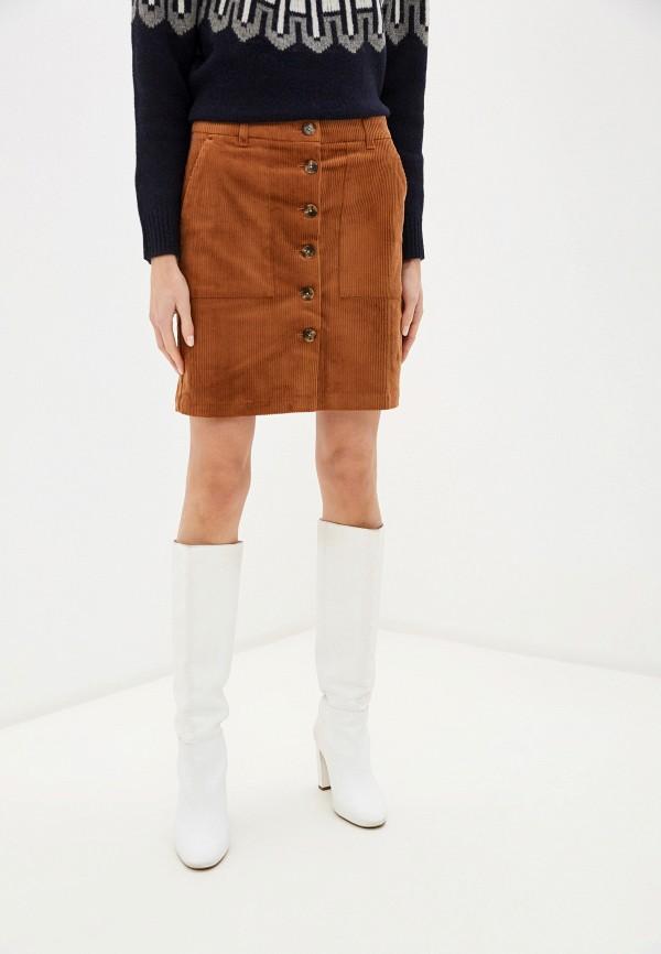 женская прямые юбка part two, коричневая